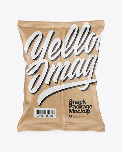 Kraft Snack Package Mockup - Back View