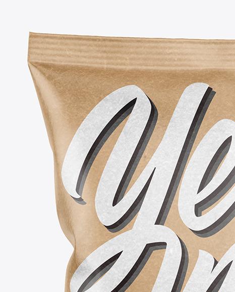 Kraft Snack Package Mockup - Back View