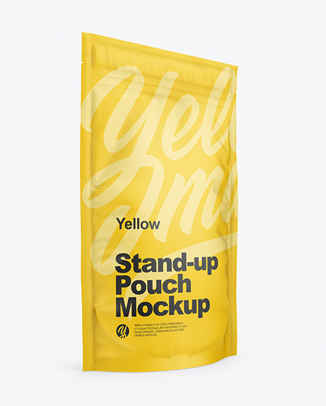 Download Matte Stand Up Pouch with Zipper PSD Mockup