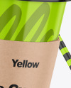 Glossy Coffee Cup W/ Straw Mockup