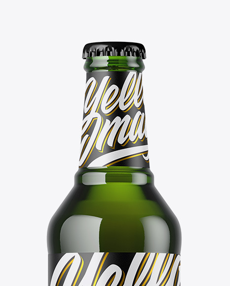 Download 330ml Clear Glass Bottle With Brown Ale Mockup PSD - Free PSD Mockup Templates