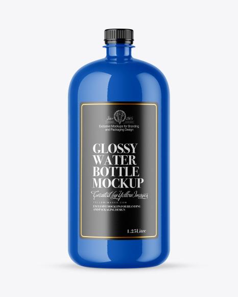 Download Glossy Water Bottle PSD Mockup