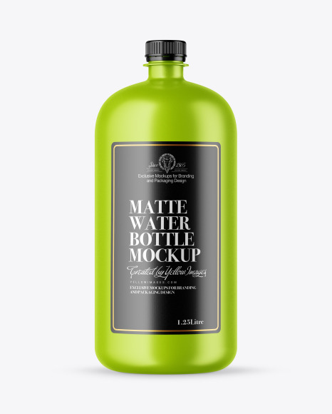 Download Matte Water Bottle PSD Mockup