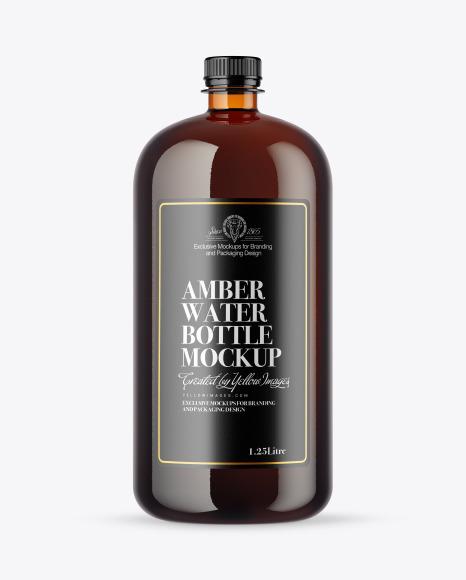 Download Amber Water Bottle PSD Mockup