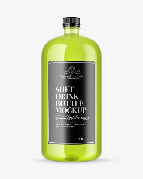 Download Plastic Drink Bottle PSD Mockup