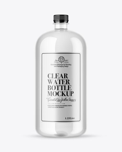 Download Clear Water Bottle PSD Mockup