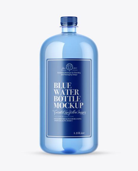 Download Blue Water Bottle PSD Mockup