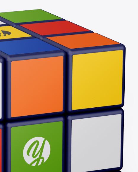 Glossy Rubik's Cube Mockup