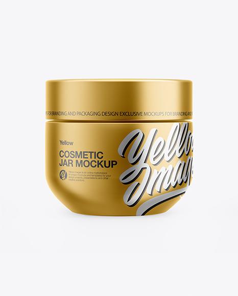 Download Metallic Cosmetic Jar PSD Mockup