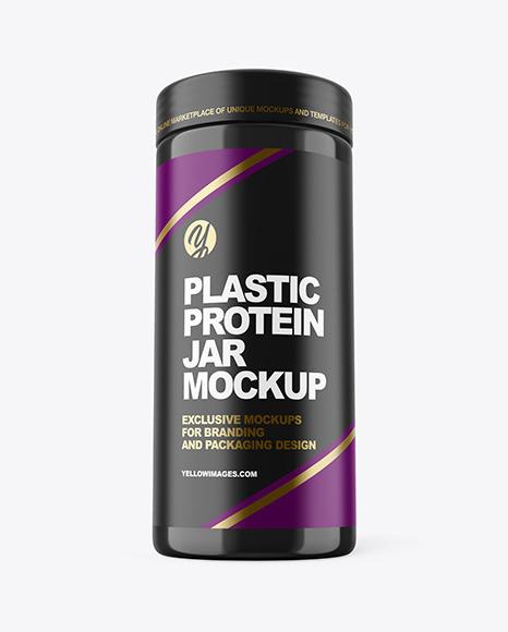 Protein Jar Mockup