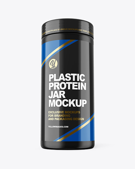 Download Matte Protein Jar PSD Mockup