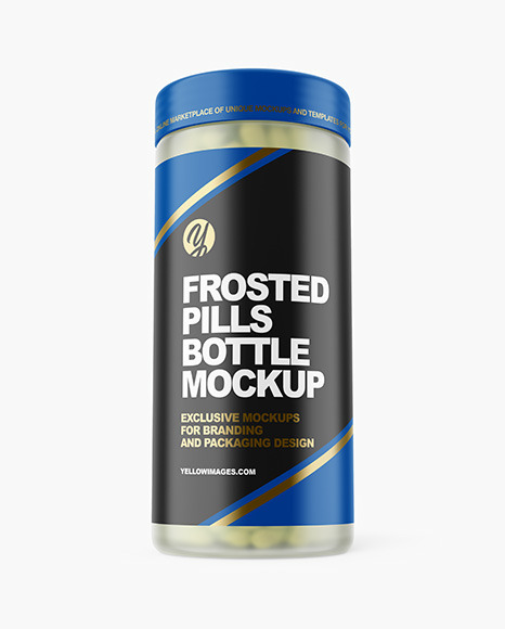 Download Frosted Pills Jar PSD Mockup