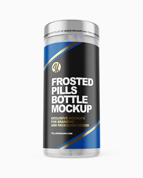 Frosted Pills Jar Mockup
