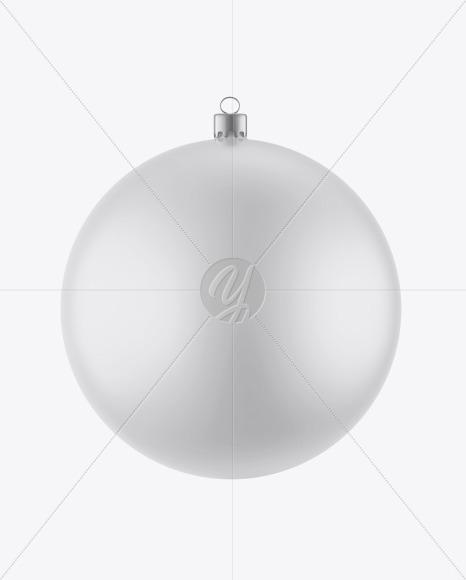 Matte Christmas Ball Mockup
