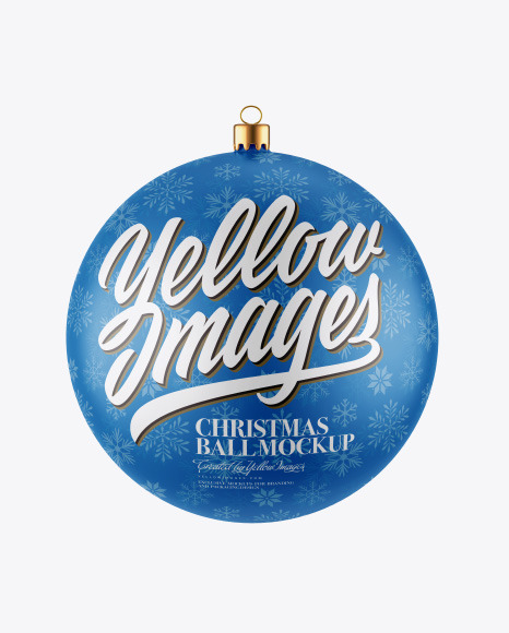 Download Matte Christmas Ball PSD Mockup
