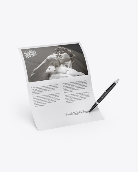Download Textured Paper & Pen PSD Mockup