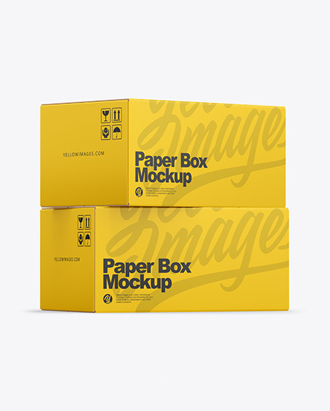 Download Two Paper Boxes PSD Mockup