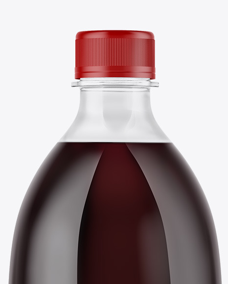 Clear PET Bottle with Dark Drink Mockup