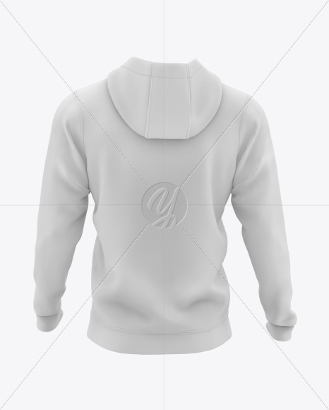 Men's Full-Zip Hooded Sweatshirt Mockup