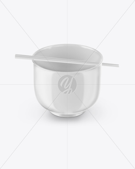 Glossy Noodle Bowl Mockup