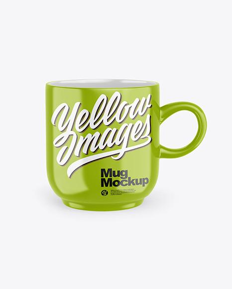 Download Glossy Mug PSD Mockup