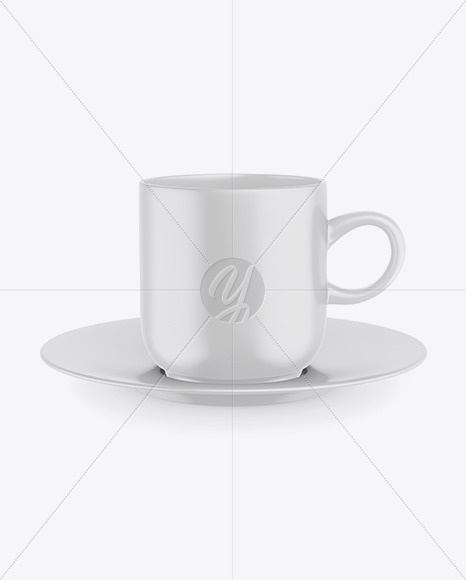 Matte Mug with Plate mockup