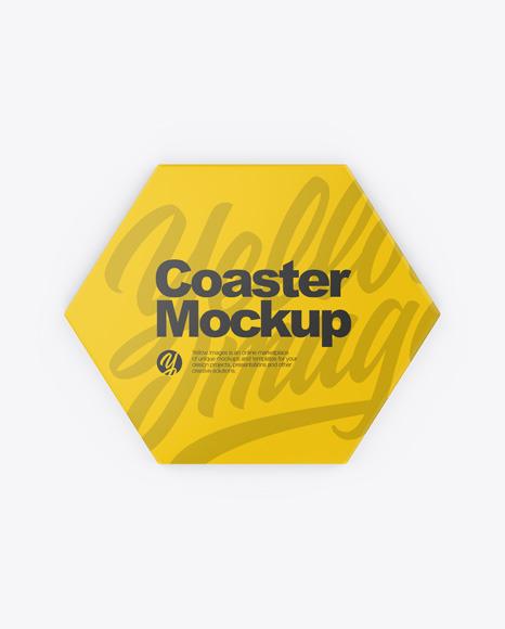 Download Beverage Coaster PSD Mockup