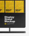 Display Stand With Boxes Mockup