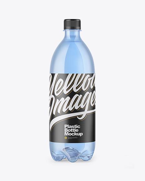 PET Blue Bottle Mockup