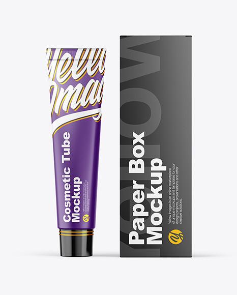 Download Cosmetic Tube & Box PSD Mockup