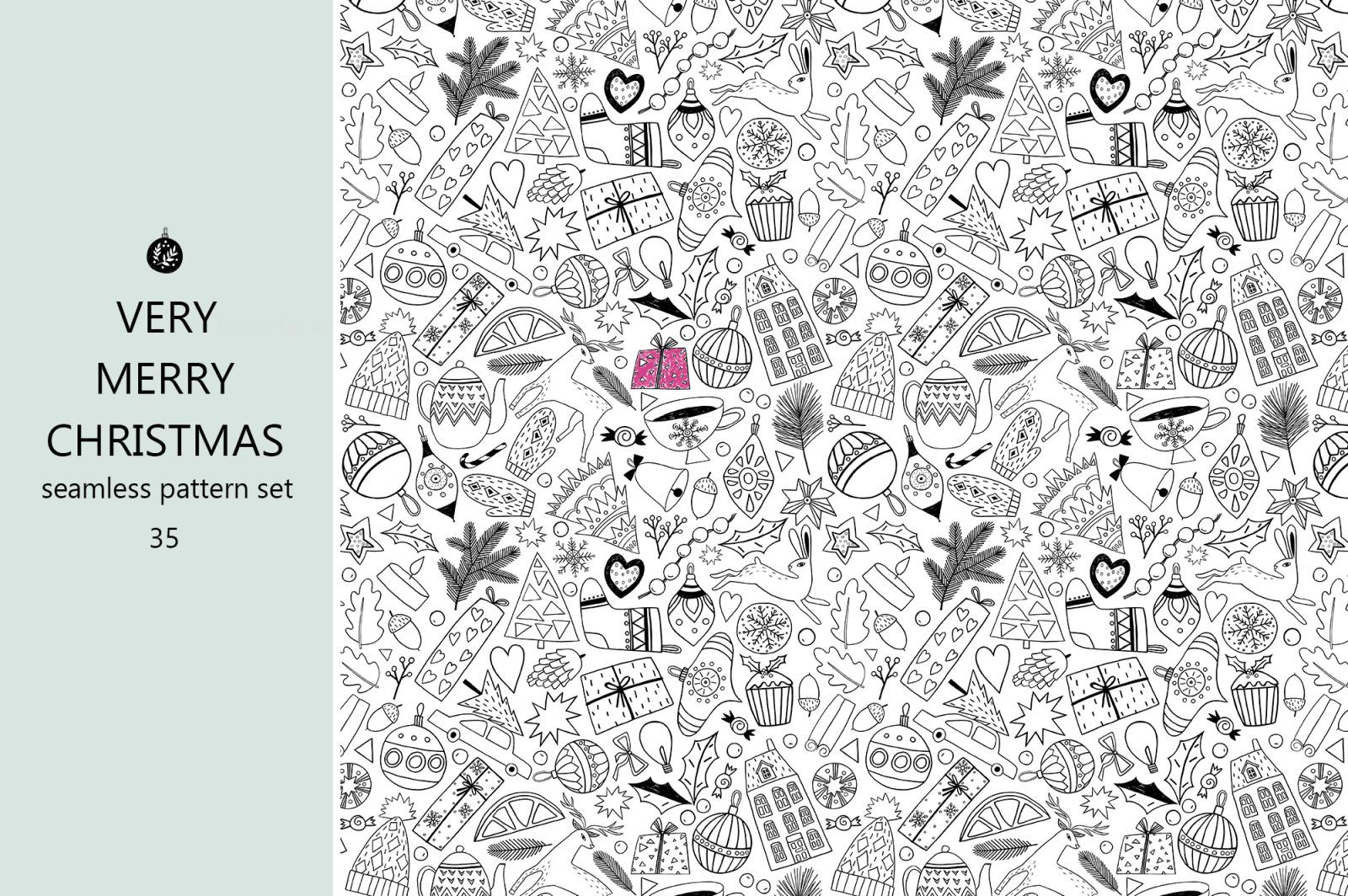Christmas Monochrome Patterns