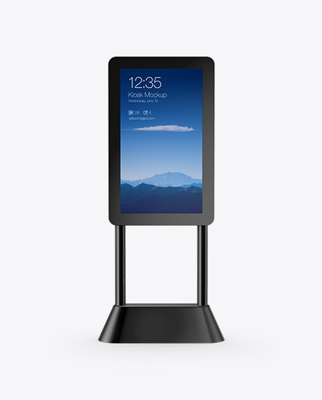 Digital Kiosk Mockup - Front View