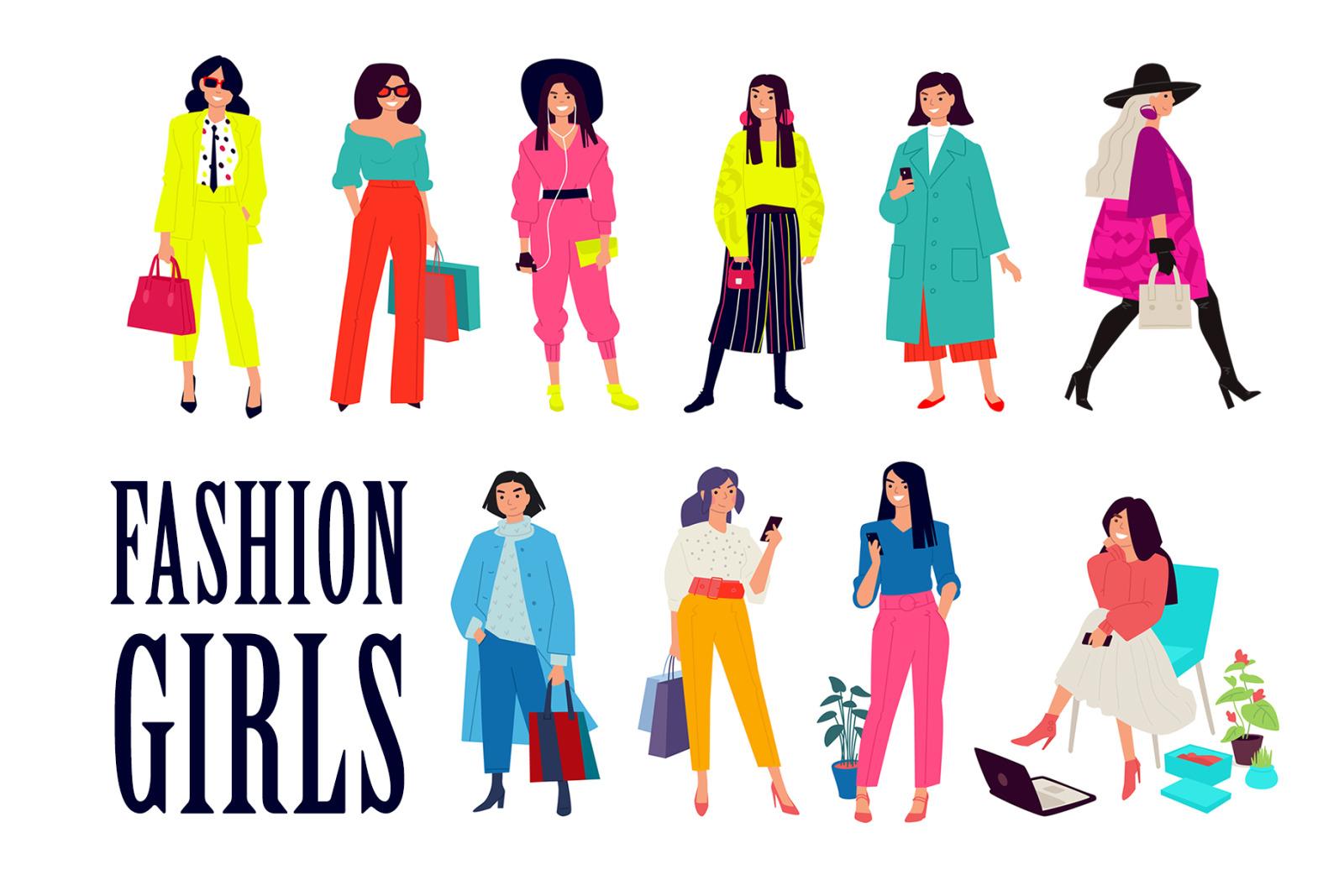 Modern fashion girls