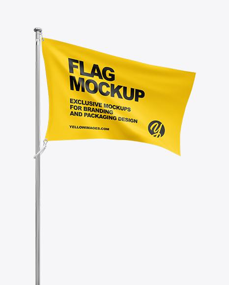 Download Flag PSD Mockup