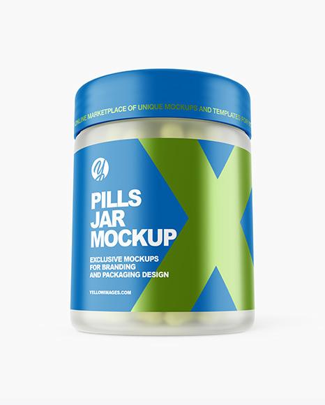 Download Frosted Pills Jar PSD Mockup