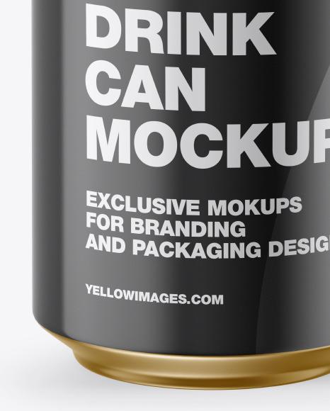 Glossy Can w/ Metallic Finish Mockup