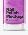 Nail Polish Bottle Mockup w/ Glossy Cap