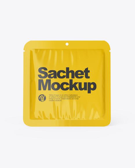 Download Glossy Sachet PSD Mockup
