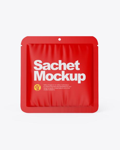 Download Matte Sachet PSD Mockup