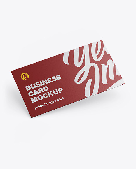 Download Paper Business Card PSD Mockup