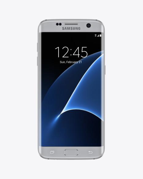 Download Silver Titanium Samsung Galaxy S7 Phone PSD Mockup