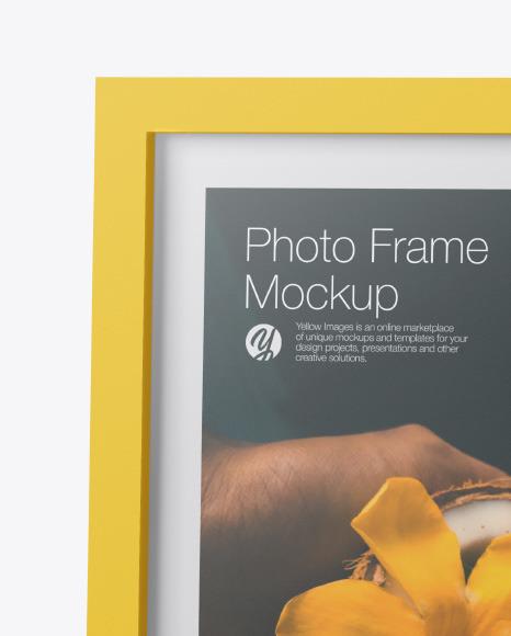 Matte Photo Frame Mockup