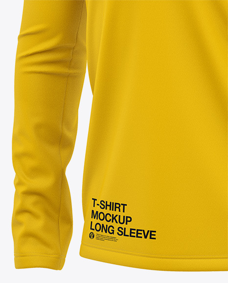 Men's Long Sleeve T-Shirt - Front Half Side View