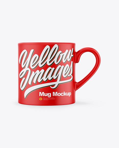 Download Matte Mug PSD Mockup