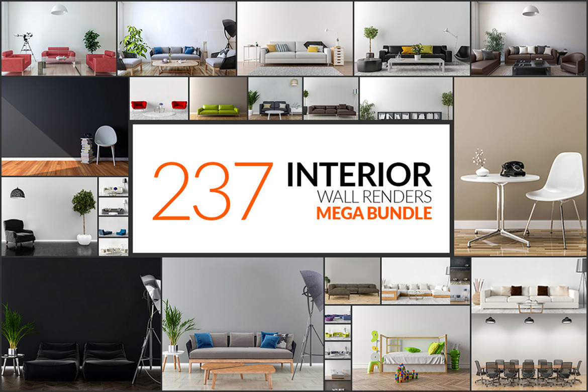 237 Interior Wall Renders - Mega Bundle
