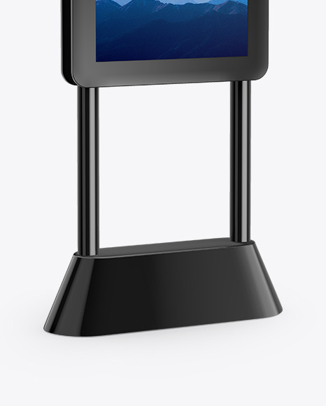 Digital Kiosk Mockup - Half Side View
