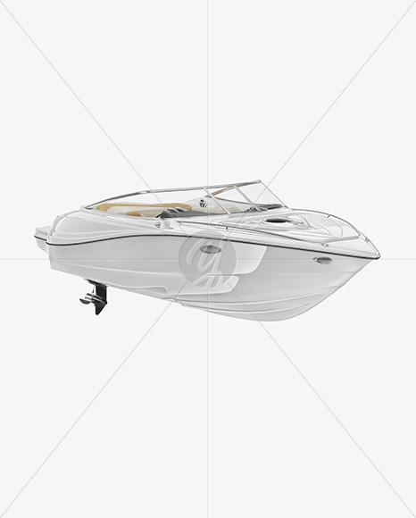 Sea Boat 24 ft. Mockup - Half Side View - Yellowimages Mockups