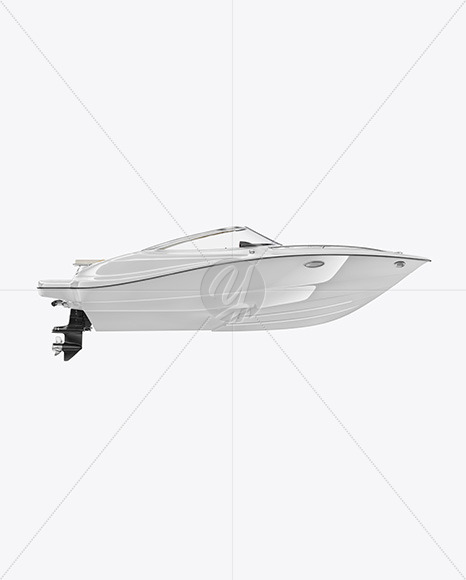 Sea Boat 24 ft. Mockup - Side View - Yellowimages Mockups