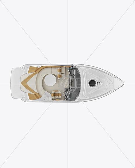 Sea Boat 24 ft. Mockup - Top View - Yellowimages Mockups