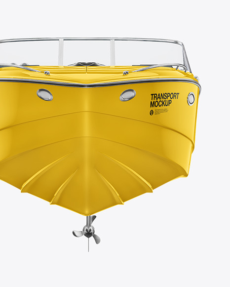 Download Sea Boat 24 ft Front View PSD Mockup